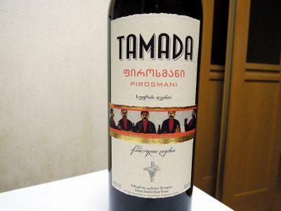 葡萄屋・関内店で購入したジョージア(グルジア)ワイン、タマダ・ピロスマニのラベル