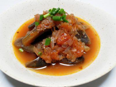 バルサミコ酢が隠し味のナスのトマト煮
