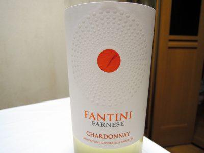 ほまれや酒舗で購入したファルネーゼ ファンティーニ・シャルドネのラベル