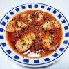 高知の地酒、南 特別純米 無濾過生原酒で黒ソイの煮つけやイカのスペイン風トマト煮をいただく