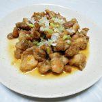 イタリア(アブルッツォ)ワイン、ルピ・レアリ モンテプルチアーノ・ダブルッツォ オーガニックで鶏もも肉の北京風揚げものや豚ロース肉のソテーをいただく