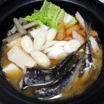 新潟(佐渡)の地酒、真野鶴・純米《鶴》で金目鯛の煮つけやいわし鍋をいただく