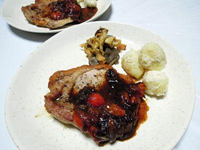 豚ロース肉のソテー・バルサミコソース