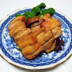 スペイン(フミーリャ)ワイン、オノロ・ベラ オーガニックでイベリコ豚ロース肉のチーズ焼きと豚バラ肉の中華煮込みをいただく