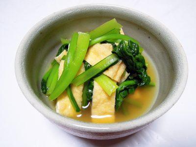 小松菜と京揚げの煮びたし