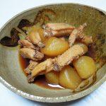 岐阜の地酒、飛騨蓬莱 生原酒 蔵人しか飲めぬ新酒で里芋の煮もの、あさりと小松菜の煮びたし、手羽中大根をいただく