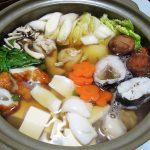 福島の地酒、大七 純米生酛でどんこの煮つけと寄せ鍋をいただく