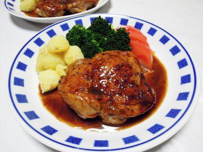 鶏もも肉のイタリアン風照り焼き
