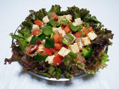 塩豆腐と生ハムのサラダ