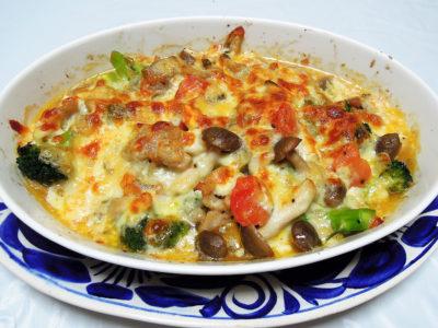 鶏肉とブロッコリーのチーズ焼き