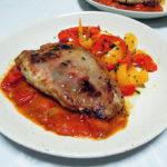 イタリア(アブルッツォ)ワイン、アウレオ モンテプルチアーノ・ダブルッツォで豚肉のサルティンボッカをいただく