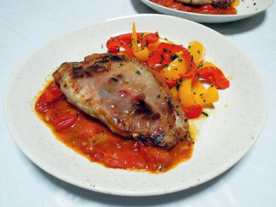 豚ロース肉のサルティンボッカ トマトソース
