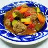 イタリア(アブルッツォ)ワイン、ヴィッラ・ドーロ モンテプルチアーノ・ダブルッツォで揚げ豚肉とれんこんのサラダ仕立てやミートボールのメキシカンスープをいただく