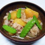 秋田の地酒、春霞 わき水ラベル 純米吟醸 28BYでなすのオランダ煮や肉じゃがをいただく