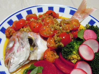 連子鯛の塩水ボイル