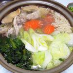 京都の地酒、玉川 自然仕込 山廃ひやおろしで鶏の水炊きをいただく