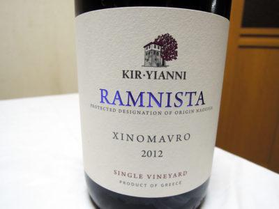 大通り公園そばの葡萄屋で購入した「キリ・ヤーニ ラミニスタ 2012」のラベル