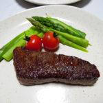 イタリア(マルケ)ワイン、ヴェレノージ ロッソ・ピチェーノ スペリオーレ イル ブレッチャローロで牛バラ肉のステーキをいただく