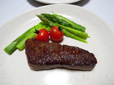 牛バラ肉のステーキ