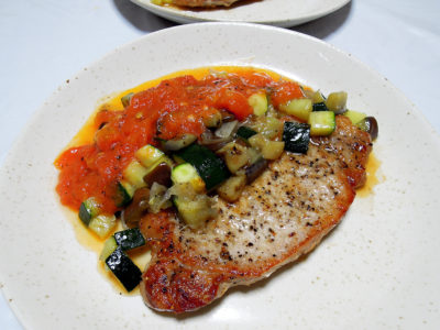 豚ロース肉のソテー シチリア風