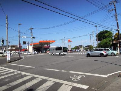 城内坂の交差点(益子駅より約1.1km)