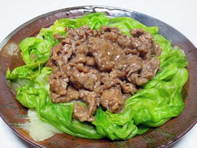 牛肉のオイスターソース炒め