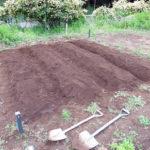 令和農園日記2019:農園を借りて、畑を耕し、畝立てをし、肥料をまいて、ためしにハーブを植えてみる