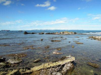 岬の突端からの眺め
