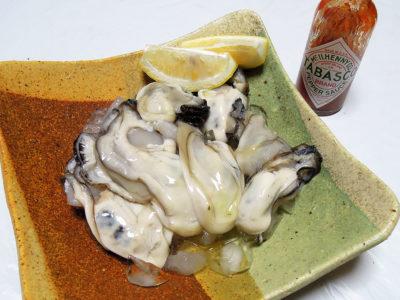 生牡蠣とタバスコ