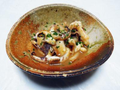 シリヤケイカ(ゴマイカ)のバター焼き