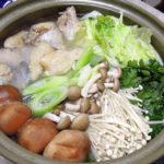 鳥取の地酒、日置桜 鍛造生酛 強力 H27BYの熱燗ではかた一番どりを使った水炊きをいただく