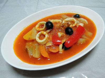 やりいかのトマト煮 スペイン風