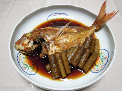 究極の料理酒、澤屋まつもと厨酒を使ったチダイの煮つけ
