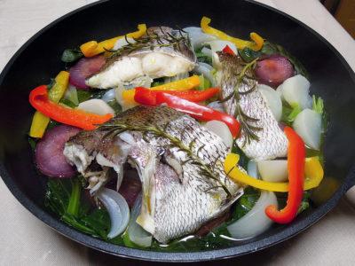 真鯛と野菜のヴァポーレ