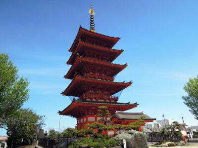 平成20年末に竣工した五重塔