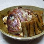 鳥取の地酒、諏訪泉 田中農場 純米吟醸55% 種籾原酒の燗で真鯛のあら炊きとあじのマリネをいただく