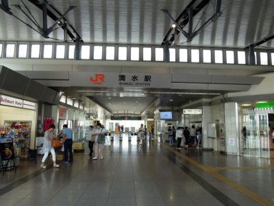 東海道本線に揺られ清水駅に到着