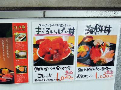 まぐろいっぱい丼に海鮮丼