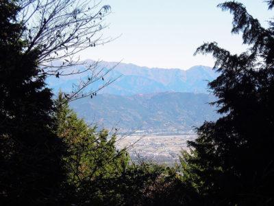 見晴小屋から丹沢方面の展望