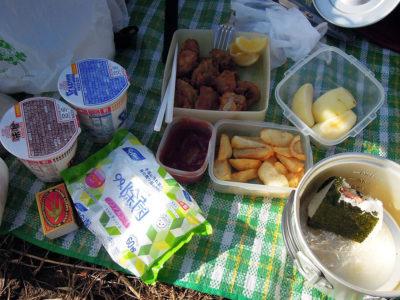 山頂の昼飯