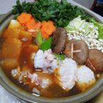 鳥取の地酒、諏訪泉 田中農場 純米吟醸55% 種籾原酒の燗であんこう鍋をいただく