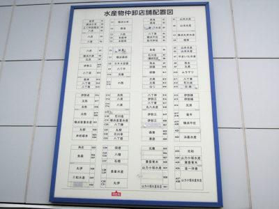 建物の外壁に取り付けられた店舗配置図