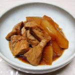 京都の地酒、益荒猛男(ますらたけお) 山廃仕込 特別純米原酒の熱燗でまぐろの小頭(ハチの身)の塩焼き、小頭と大根の煮ものをいただく
