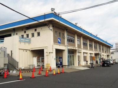 川崎幸市場(南部市場)の水産仲卸売場棟