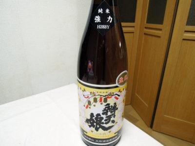 京急・南太田駅が最寄りの鈴木屋酒店で購入した「辨天娘 生酛純米 若桜町産強力 25番娘 H28BY」のラベル