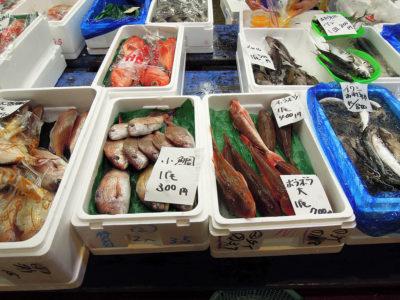 ムラマツの店先に並ぶ鮮魚