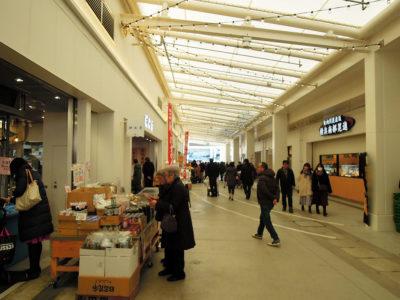様々な店舗が並ぶブランチ横浜南部市場