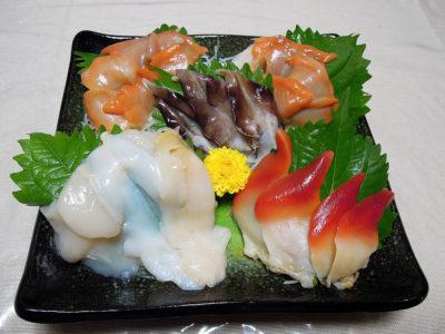 築地 魚きん 横浜店で購入した貝刺身盛り合わせ3割引