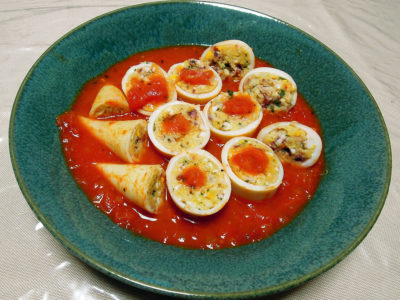 やりいかのファルシー トマトソース