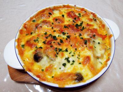 チキンカチャトーラのチーズ焼き